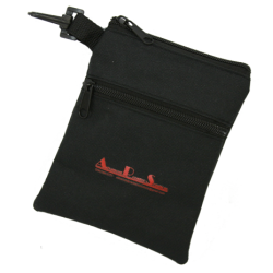 Dual Pocket Accessories Pouch with plastic clip