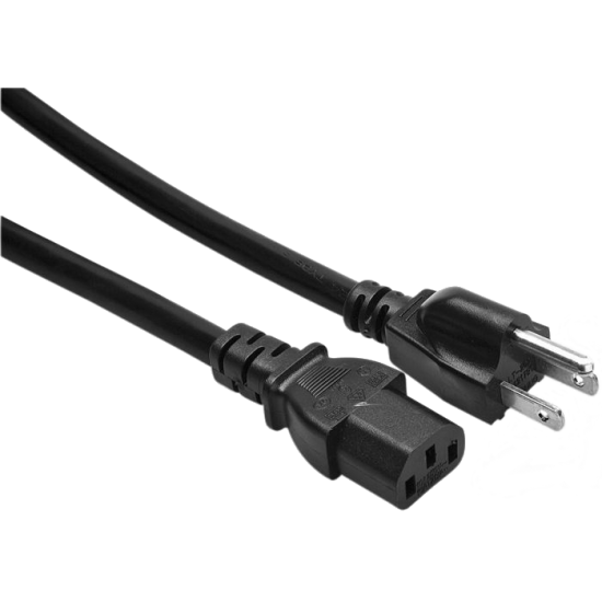 Power Cord ONLY for AC power supplies, 3 prong grounded, 1.2m